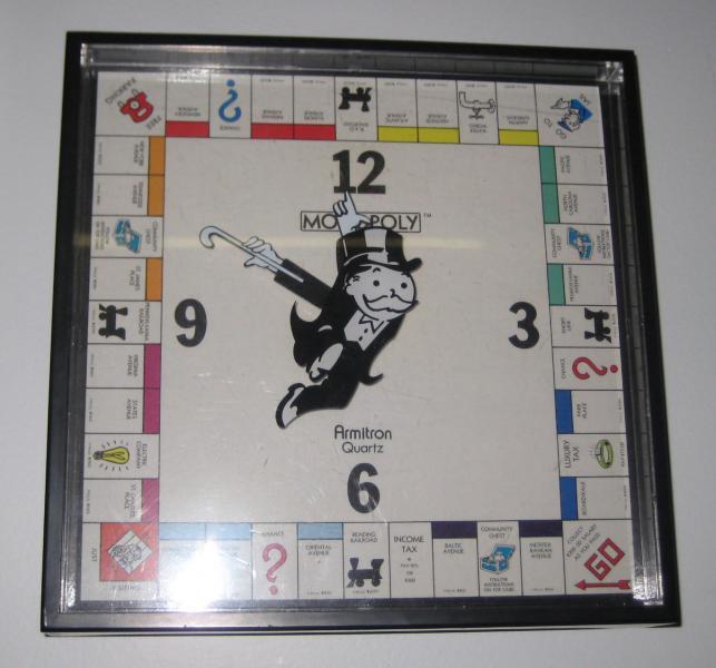 16. Monopoly Clock