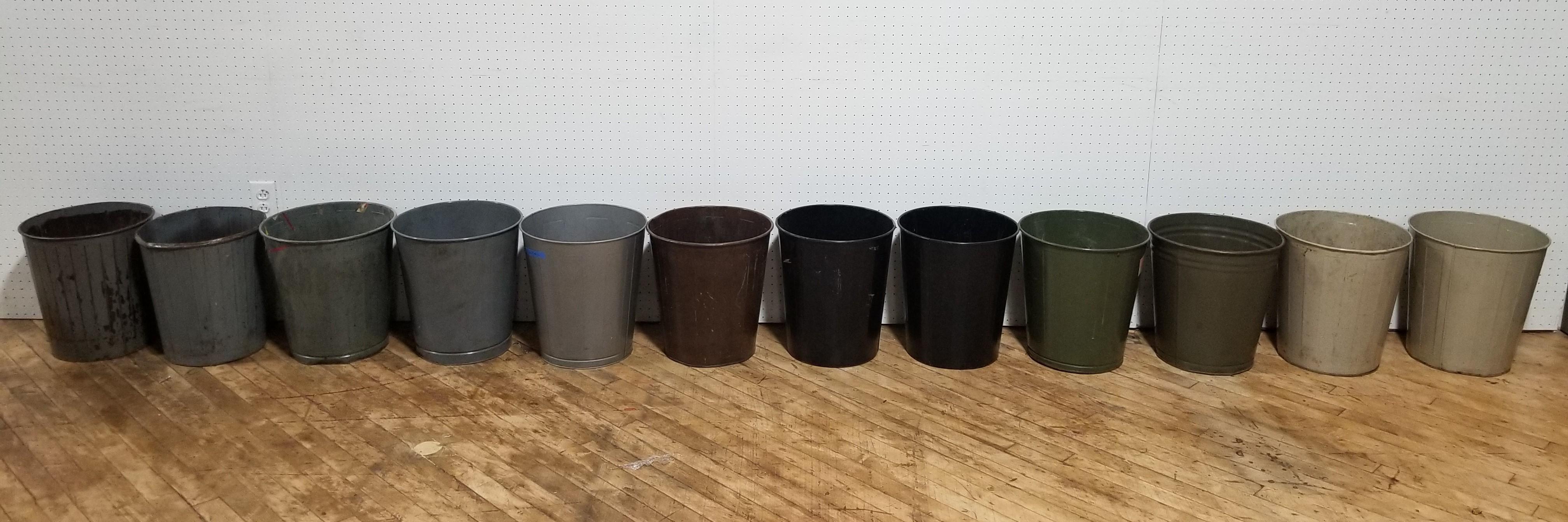 #108. Vintage Metal Trash Cans