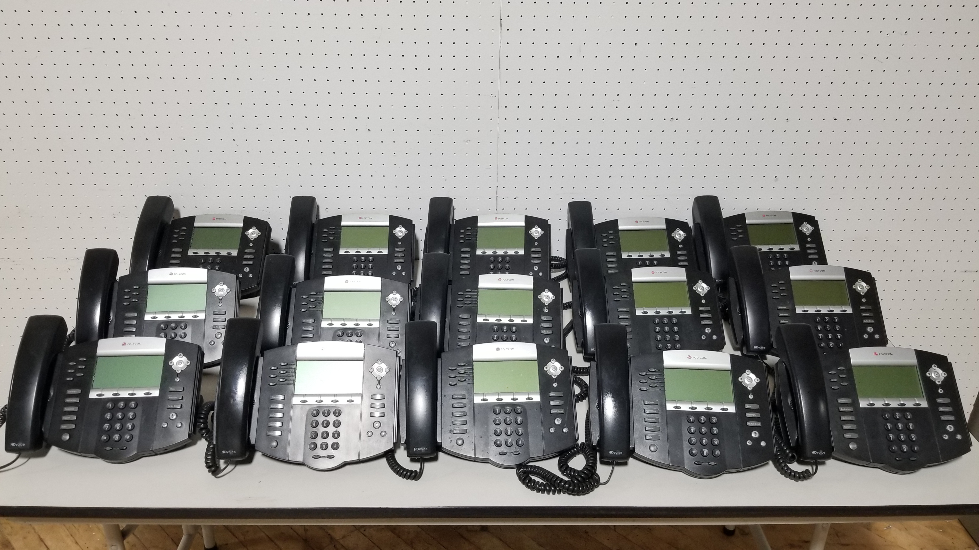 #121. 15 POLYCOM PHONES
