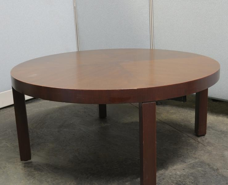 58. Round Coffee Table, Mahogany