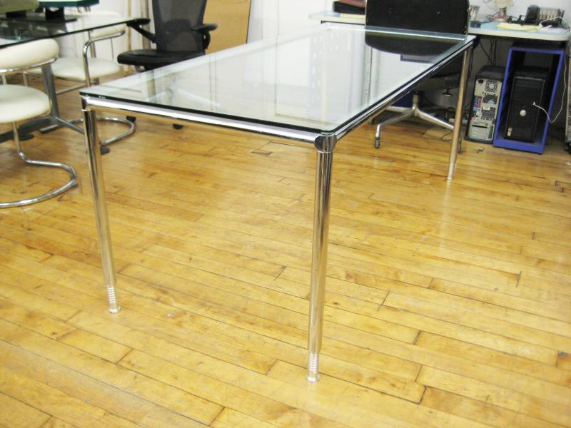 4.Conference Table, Glass 6 ft.