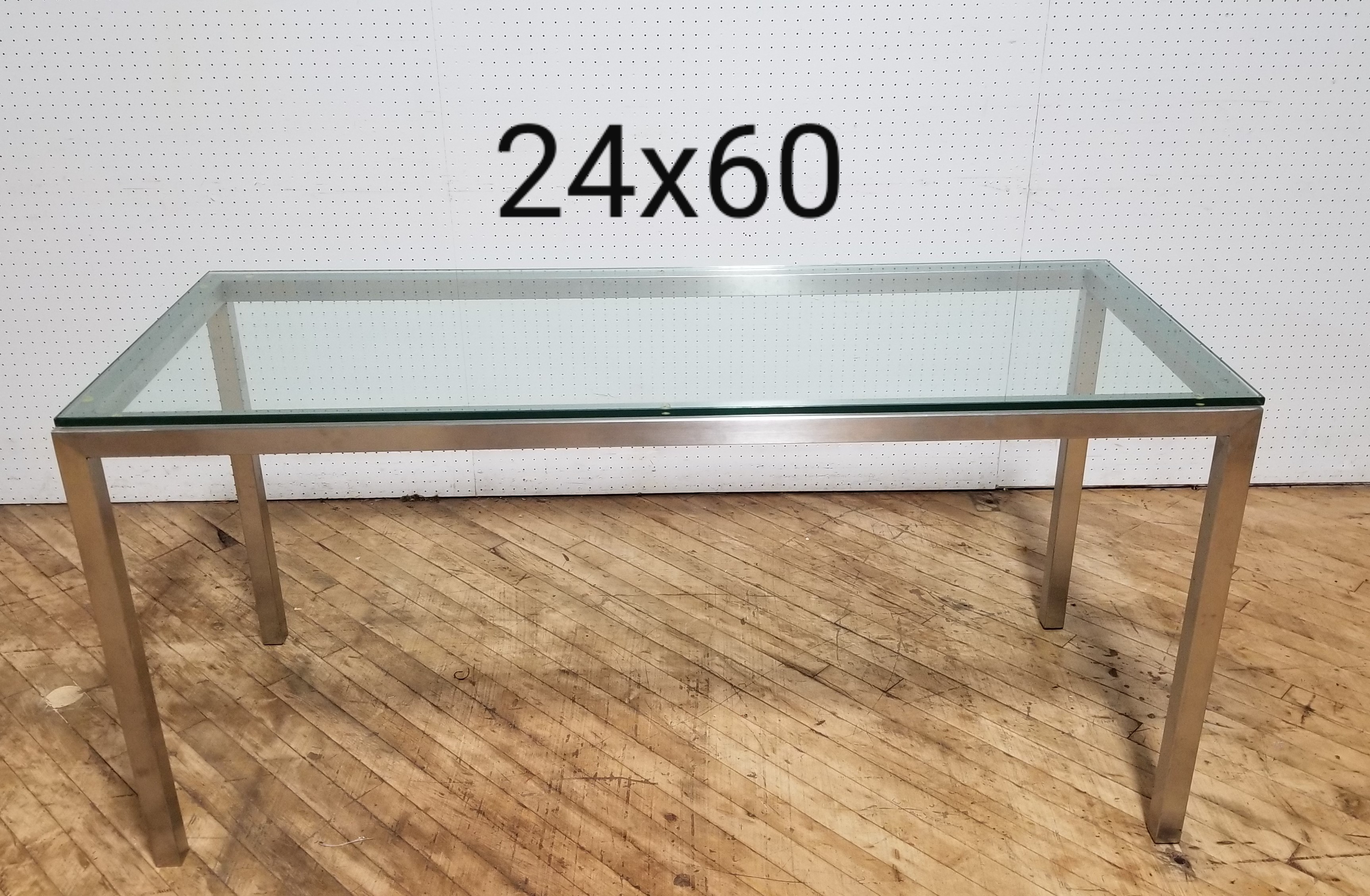 #282. 24X60 Glass Table