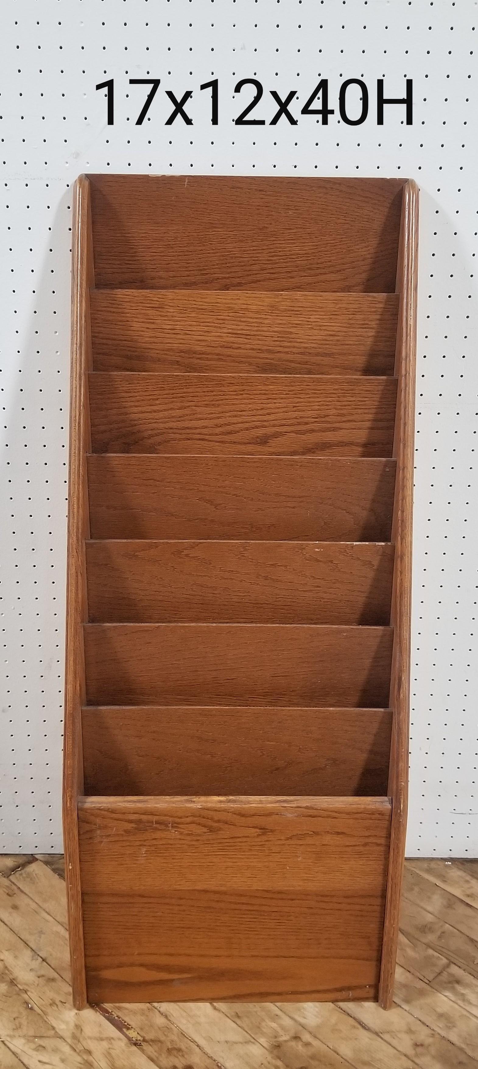 #125. Vintage Wood Magazine Rack 2