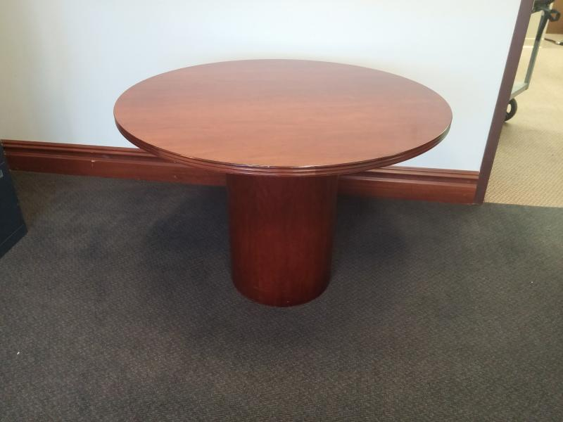 66. Set of Two 42'' Round Tables