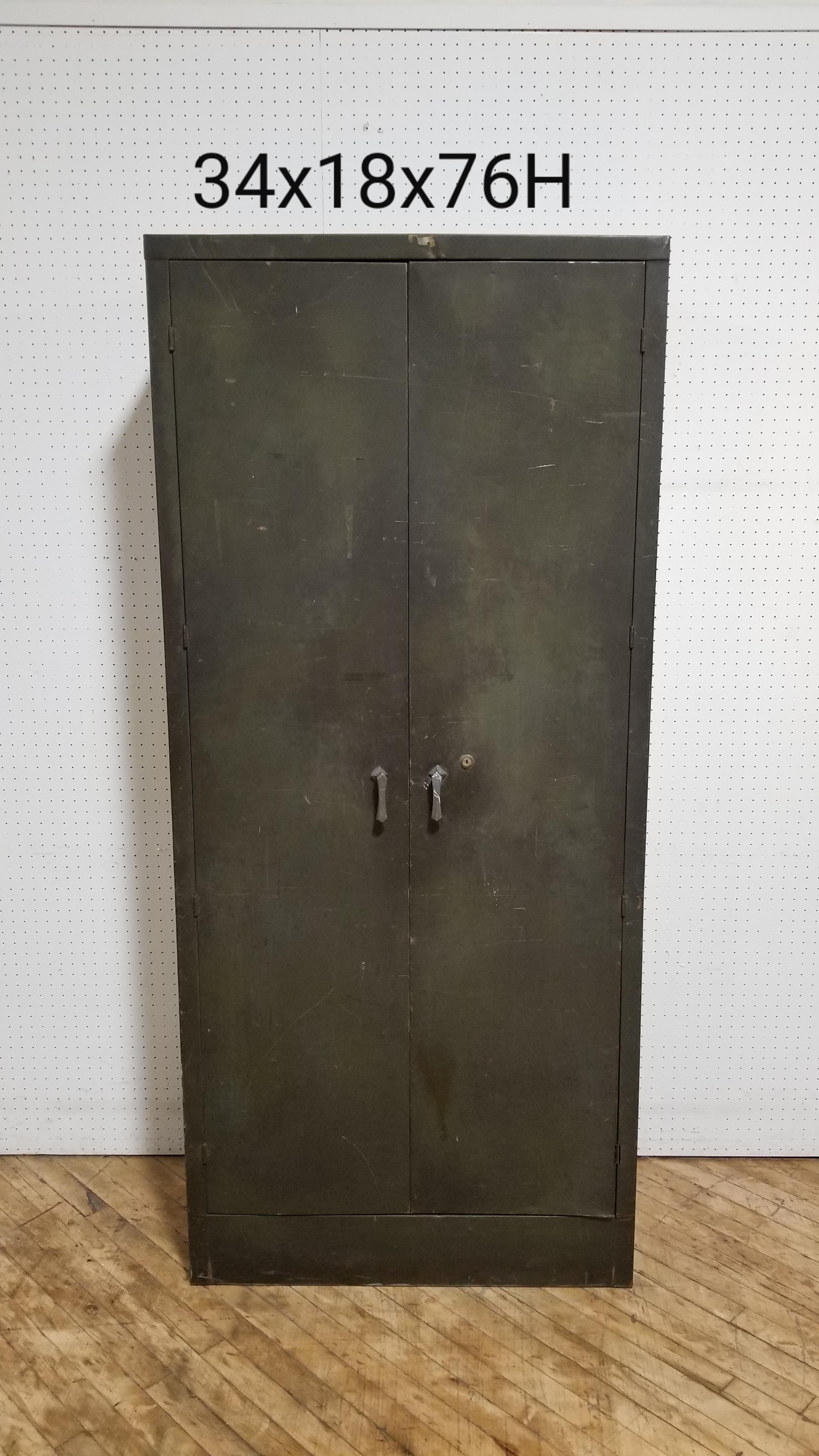 #116. Vintage Green Metal Storage Ca
