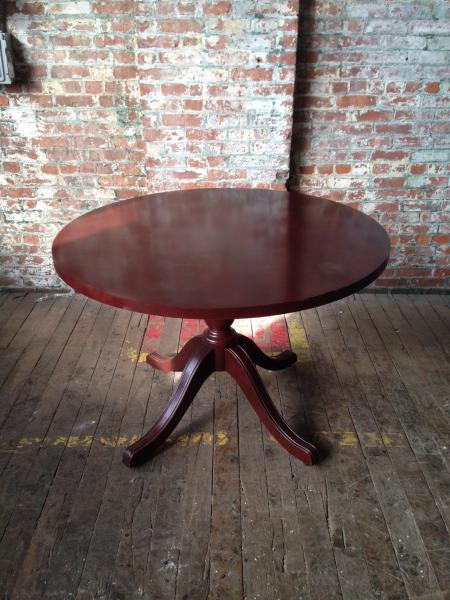 35. Wood Mahogany Table 42''