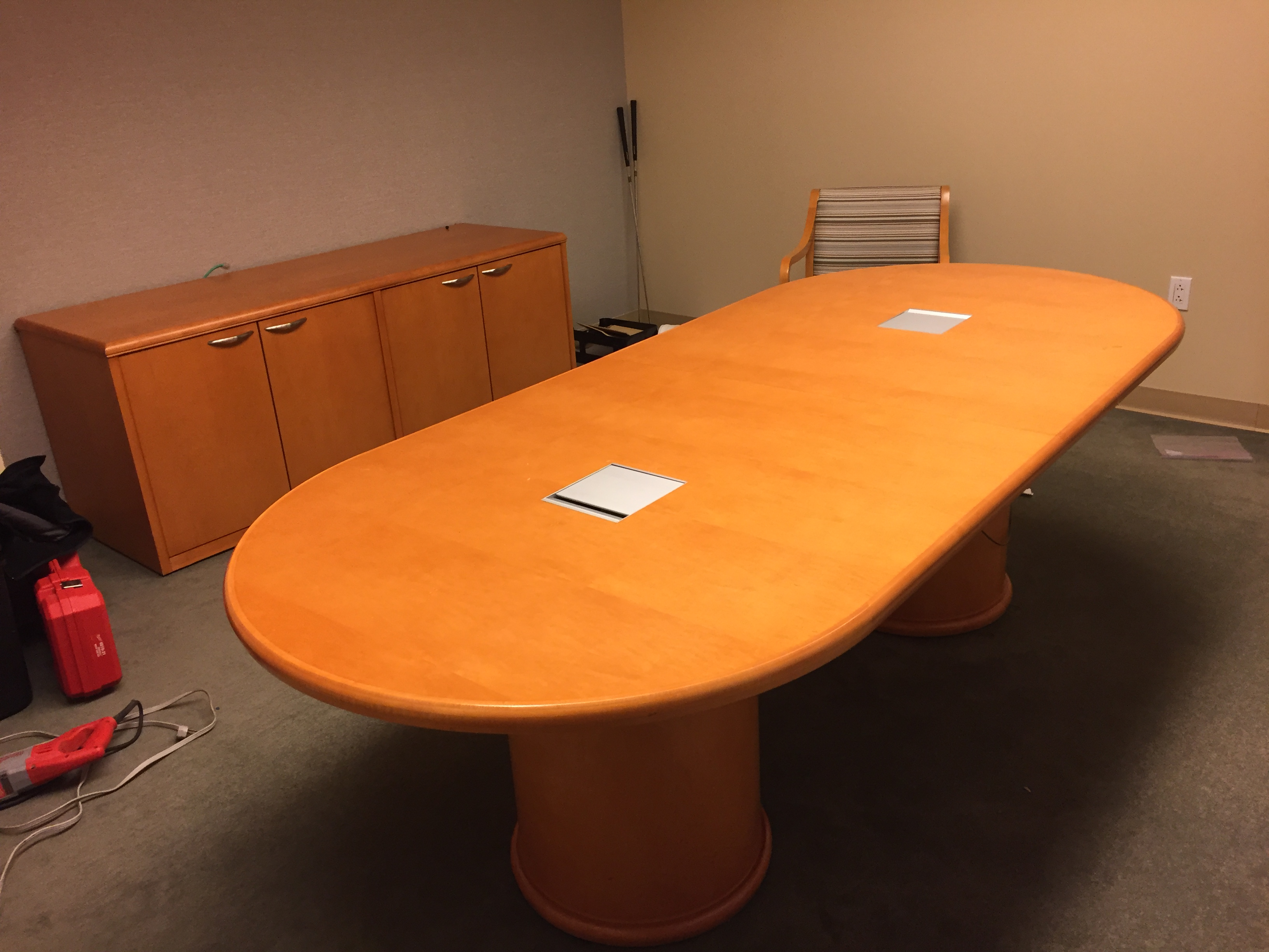 "154. Conference Table 42"" x 8'"