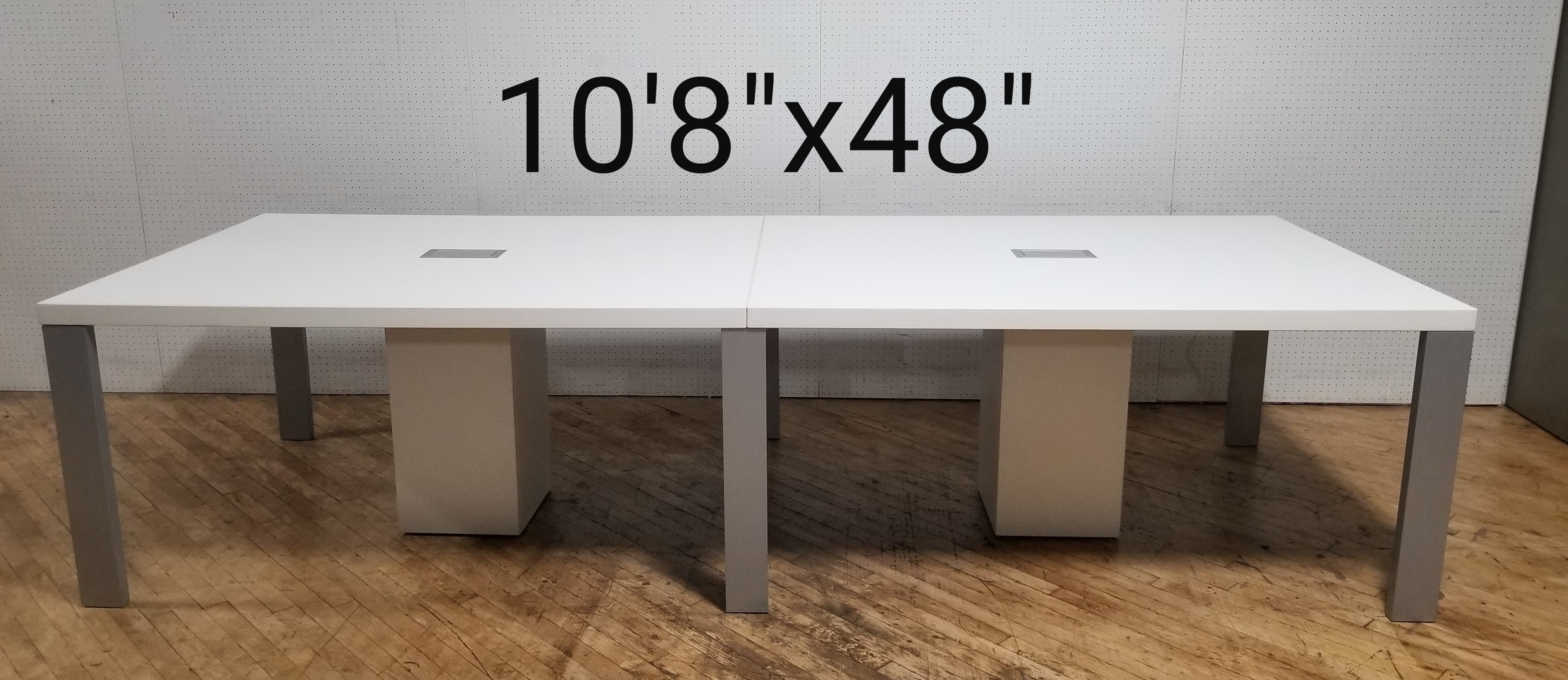 #310. White conference table -Rental