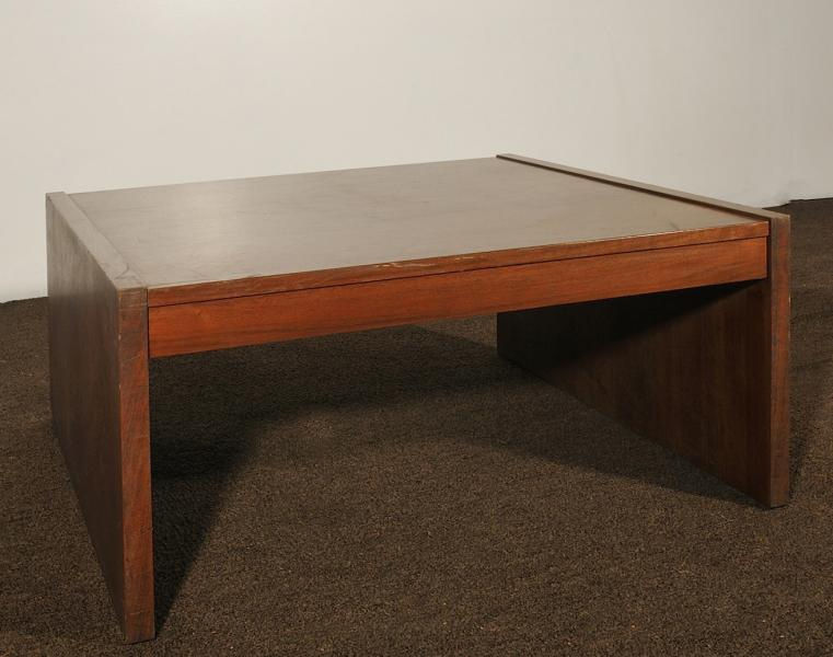 64. Square Coffee Table Slat Legs