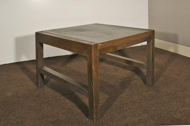 63. Square Coffee Table, Dark Walnut
