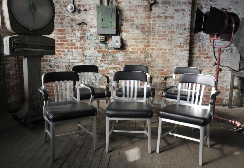 8. Emeco Semi-Upholstered Armchair