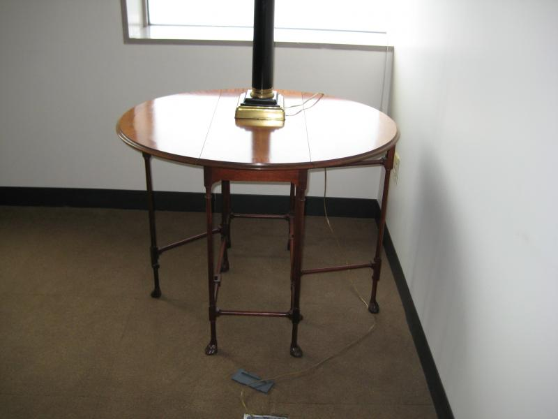 43. Drop Leaf Side Table, Walnut