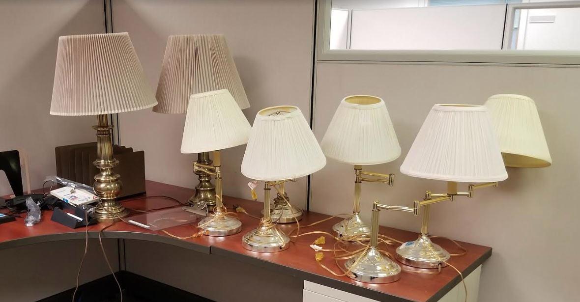 #120. Assortment of Desk Lamps