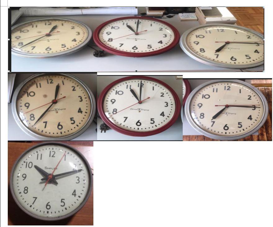 #106. Vintage Wood Clocks