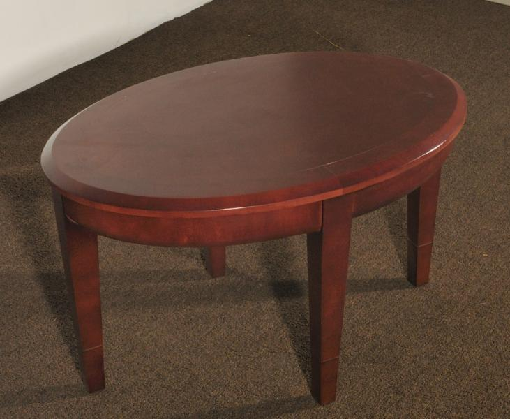 57. Oval Coffee Table, Cherry