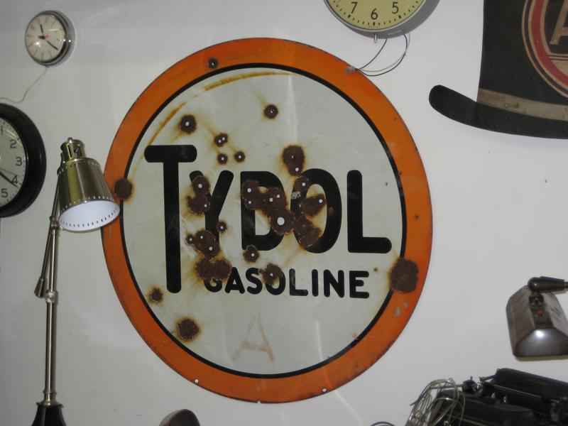 49. Vintage Tybol Gasoline Sign