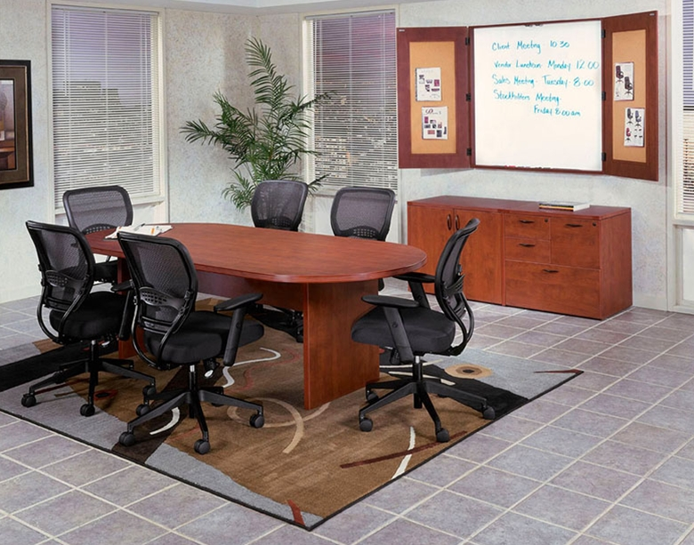 97. Contemporary oval conf tables