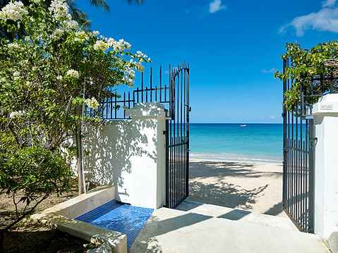The beach gate and rinse shower