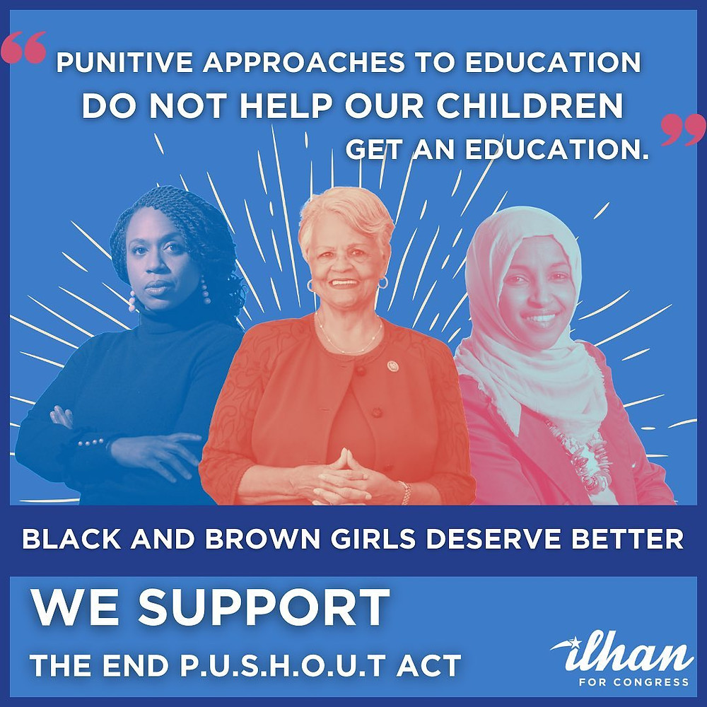 Reps. Omar, Pressley, Watson Coleman Re-Introduce Bold Legislation to End School Pushout of Girls of Color