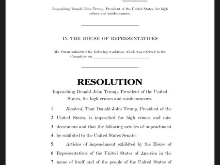 January 7, 2021 | Rep. Omar Unveils Privileged Impeachment Resolution Against President Trump