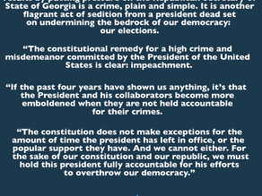 January 4, 2021 | Rep. Omar: Trump's Attempt to Overturn Election Results is an Impeachable Offense
