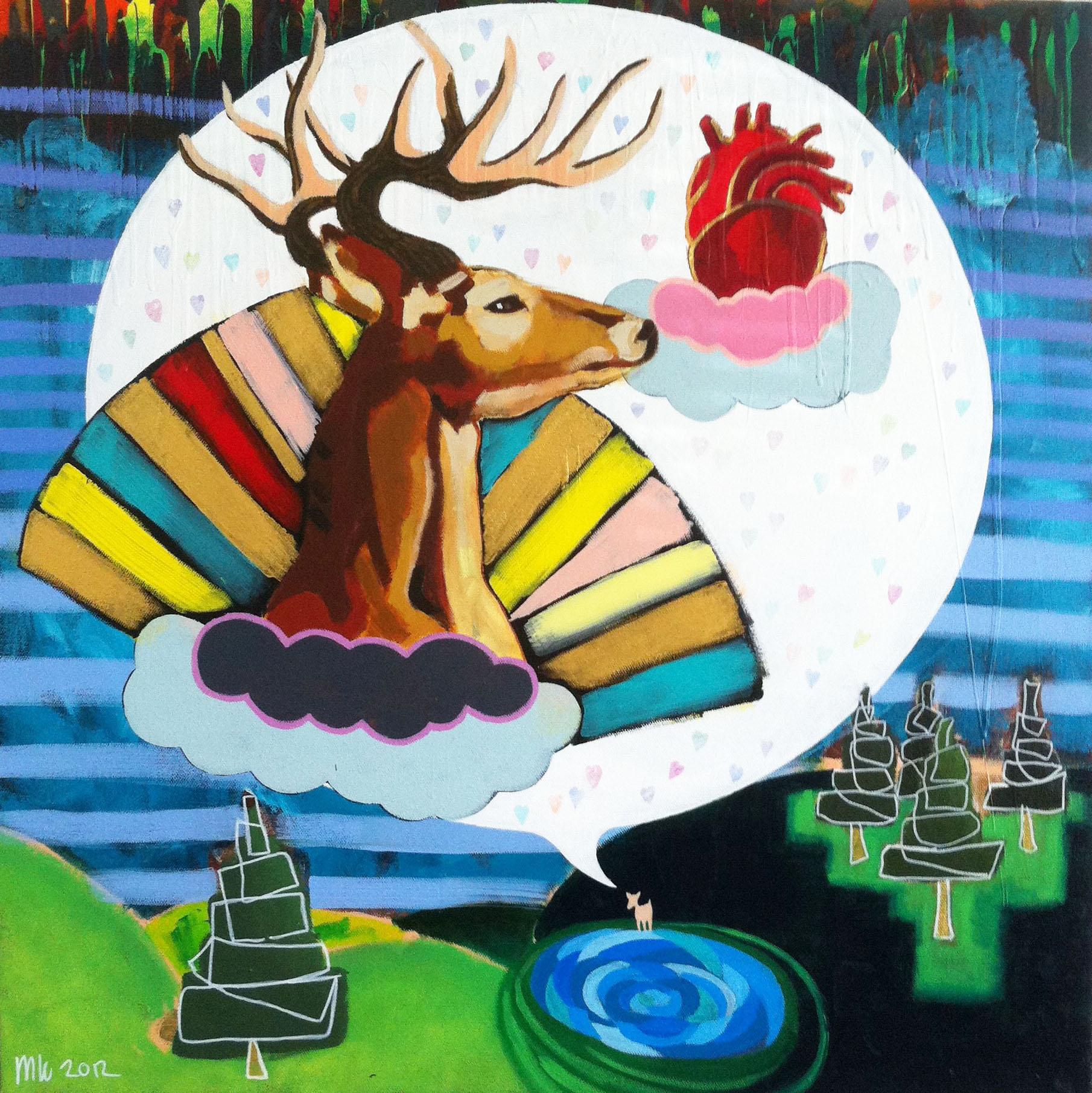 Messiah for the animals (2012) Acrylics on Canvas 80 x 80 cm.jpg