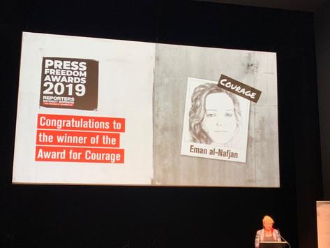 Tre kvinnliga journalister prisas för mod, påverkan och oberoende