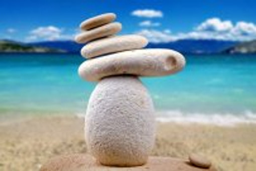rock stack beach image
