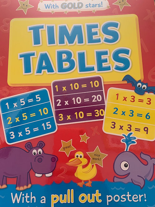 Times Tables with Pull Out Poster