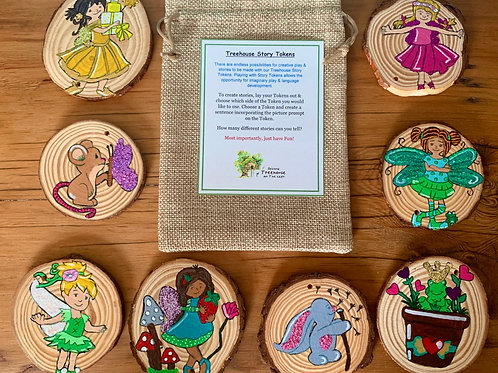 Fairy Princess Treehouse Story Tokens