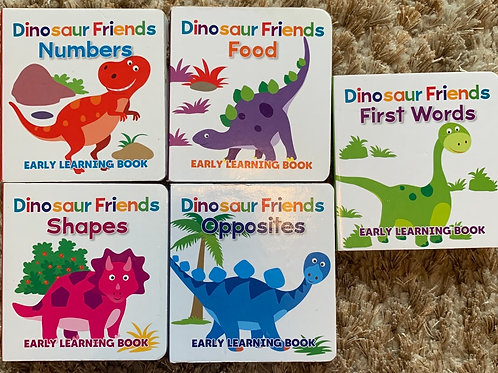 Dinosaur Friends Early Learning Book Set of 5