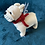 Thumbnail: Knitted French Bulldog Rattle Soft Toy