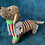 Thumbnail: Knitted Sausage Dog Soft Toy