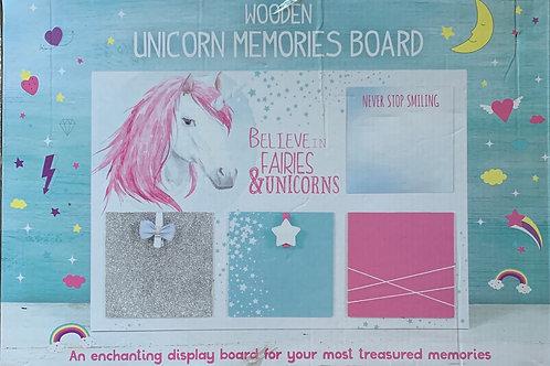 Wooden Unicorn Memories Board