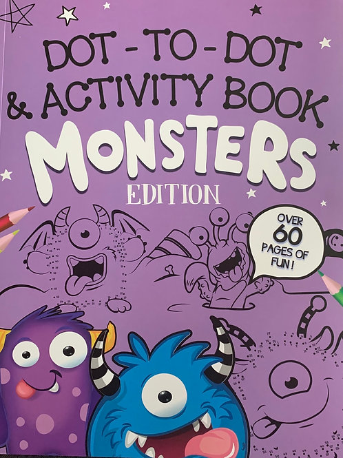 Dot to Dot & Activity Book Monster Edition