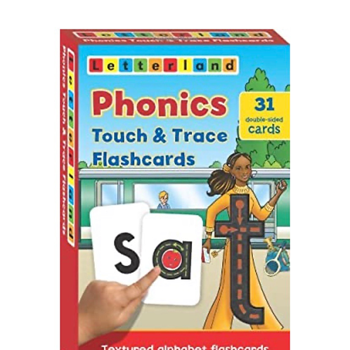 Phonics Touch & Trace Flashcards: 1 (Letterland Phonics)