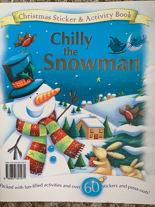Chilly the Snowman Sticker and Activity Book