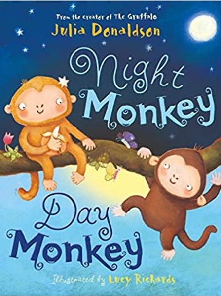 Night Monkey Day Monkey - Small book - Julia Donaldson