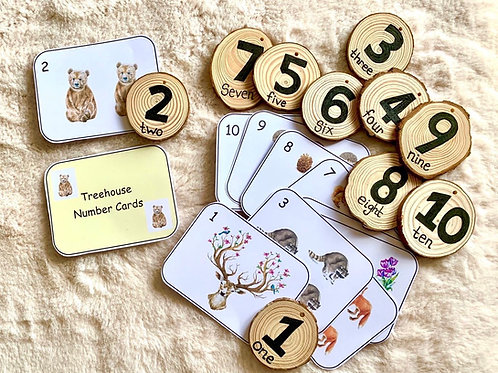 Treehouse Tokens - Numbers 1 to 10