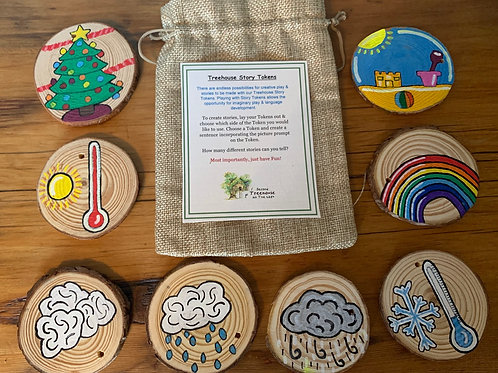Season and Weather Themed Story Tokens