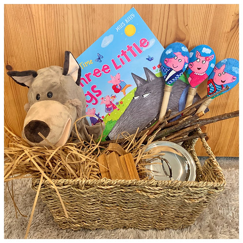 The Three Little Pigs - Treehouse Story Basket