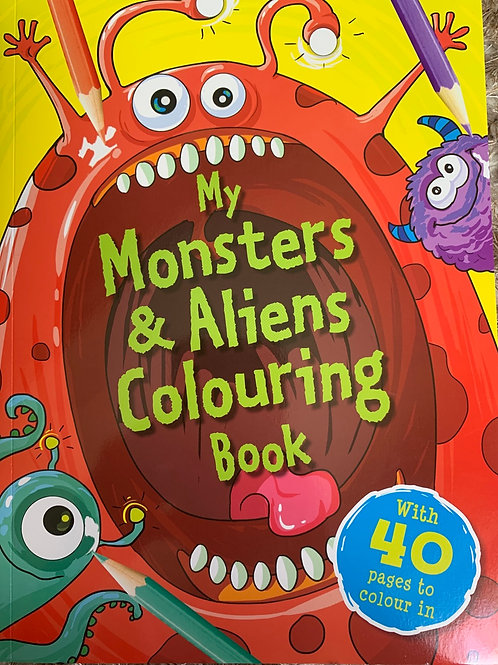 My Monsters & Aliens Colouring Book