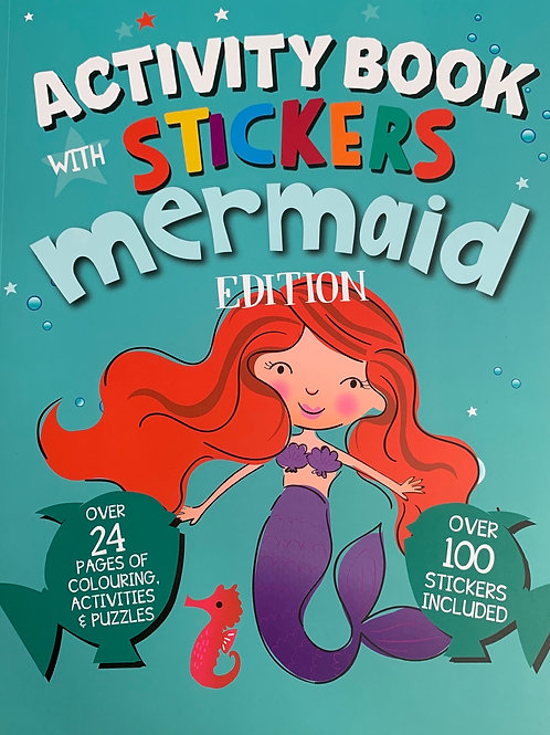Activity Book with Stickers Mermaid Edition
