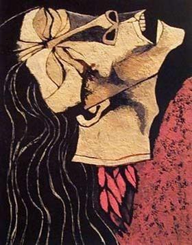 Ilustración:  Guayasamín, O. 1987. Rosa Zárate, flor decapitada [Arte mural, retrato].