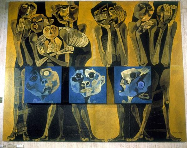 Ilustración 1: Guayasamín, O. 1992. Madres y niños [Arte mural]. Lugar: UNESCO.