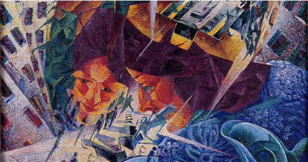 (Umberto Boccioni. 1911. Visiones Simultáneas)
