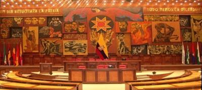 Ilustración 4: Guayasamín, O. 1988. Imagen de la Patria [Arte mural]. Lugar: Salón del plenario del Palacio Legislativo, Quito, Ecuador.