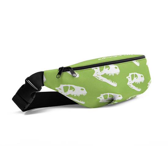 Edward Cope Dinosaur Hunting Apparel Coelophysis Head Fanny Pack (Nature Green)