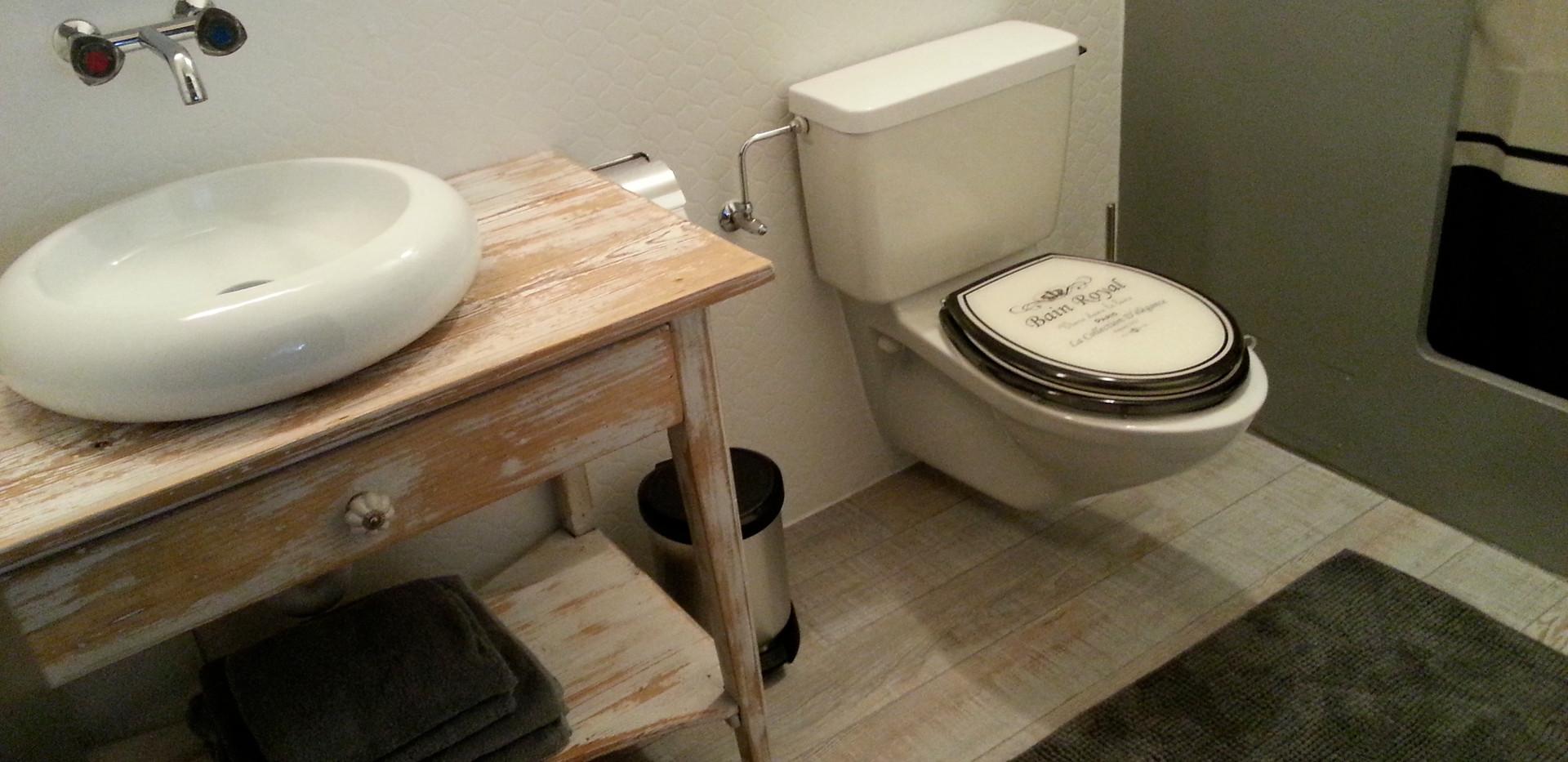 Badezimmer mit Dusche/WC