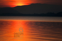 lake of biel, sunset